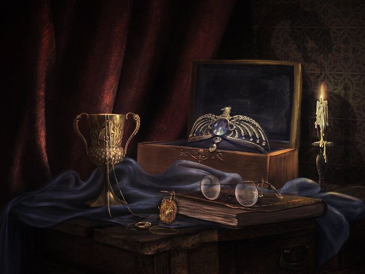 The Seven Horcruxes by LiliaOsipova.deviantart.com on @DeviantArt