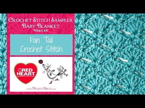 Fan Tail Stitch for the Crochet Stitch Sampler Baby Blanket Crochet Along | Red Heart