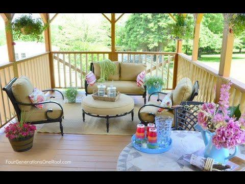 Deck Decor | Deck Decor Ideas| Deck Furniture And Decor