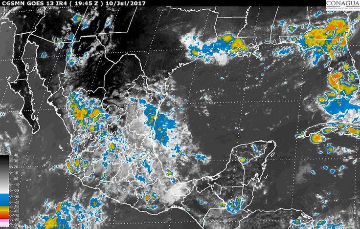 El pronóstico meteorológico para las próximas horas es de tormentas intensas en regiones de Guerrero, Nayarit, Puebla y Oaxaca; tormentas muy fuertes en zonas de Sonora, Veracruz, Chiapas, Durango, Sinaloa, ...