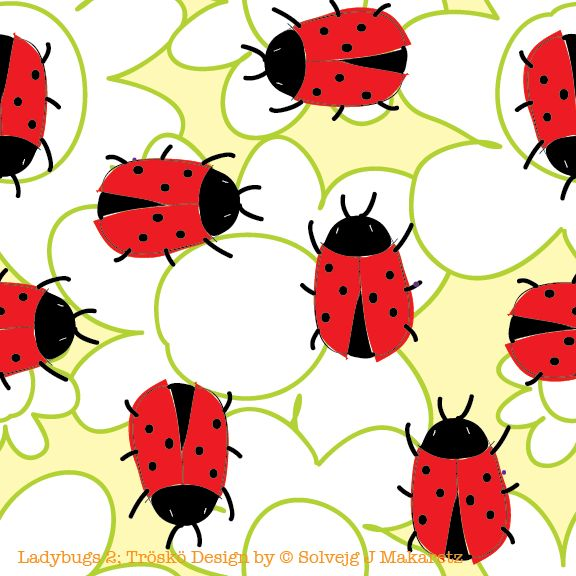 Ladybug 2; Tröskö Deisgn by © Solvejg J Makaretz