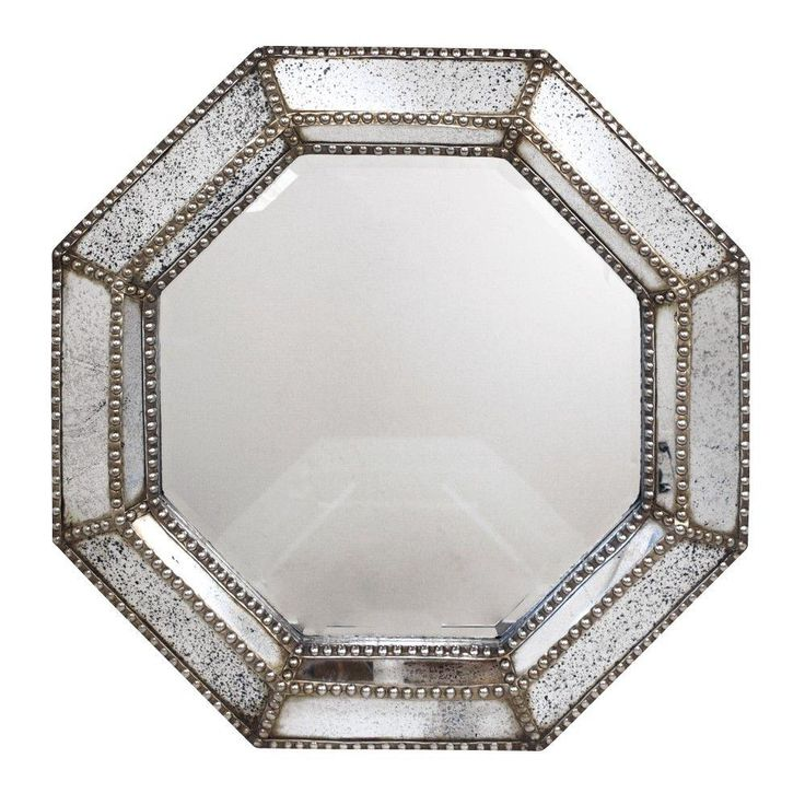 Home Decorators Collection Gunnar 40 In X 40 In Antique Champagne Octagon Framed Wall Mirror