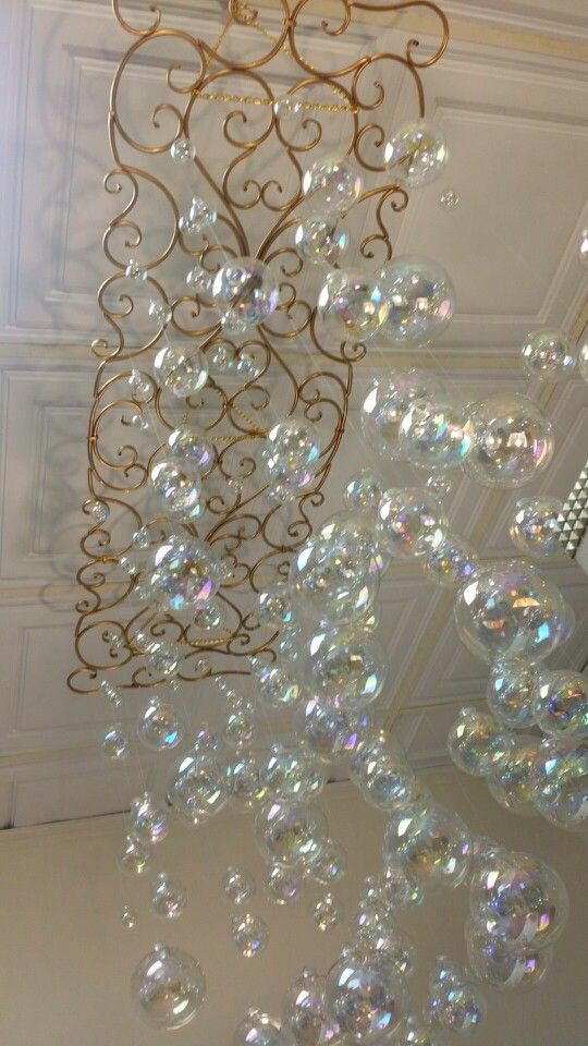 Bubble chandelier display at Bathhouse Soapery in Natchitoches, Louisiana and Hot Springs, AR