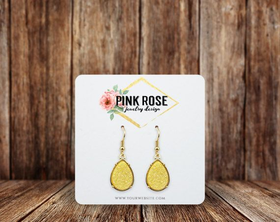 Earring Cards Rounded Square Custom Display
