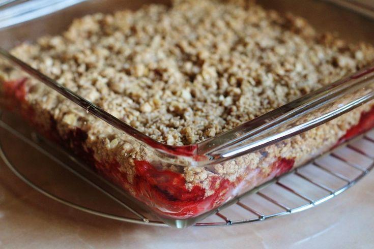 Red Berry Rhubarb Crisp - Get the recipe at www.beverleynoseworthy.ca