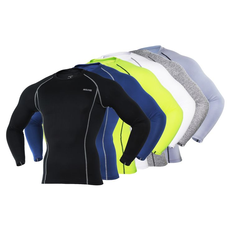 9.77$  Buy here - http://alit8i.shopchina.info/go.php?t=32691407015 - Men's Cycling Base Layer Sports Underwear Long Sleeve Compression Tight Running T-shirt Gym Fitness Weight Lifting Shirts 9.77$ #aliexpress