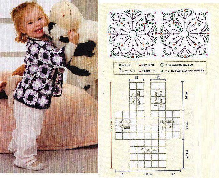M s de 1000 im genes sobre motivos cuadrados crochet en - Cuadraditos de crochet ...