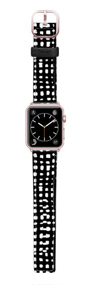 Casetify Apple Watch Band (42mm) Saffiano Leather Watch Band - Grid by Andrea Lauren  by Andrea Lauren
