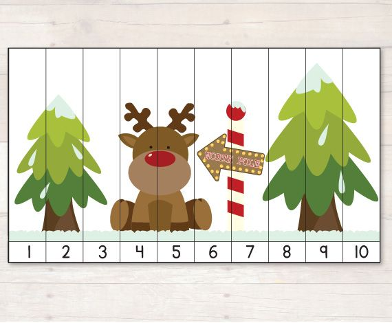 Free Christmas Number puzzle. #freebiefriday #busylitlebugs #christmas