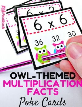 Poke games are a creative, simple, self-checking way for students to practice their multiplication facts. And the cute owl design will be sure to grab your students' attention. My students love them!Check out how poke cards work in my Poke Cards Video.Included inside this title are 144 cards to help students review multiplication facts 1-12.This title can also be found in my Owl Poke Math Facts Pack that includes the facts for all four operations at a discount price.