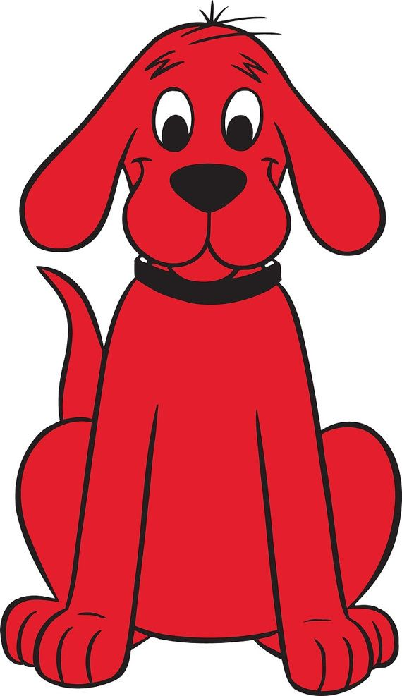 Clifford The Big Red Dog Iron on Transfer by SAVVYCOUNTRYDESIGNS