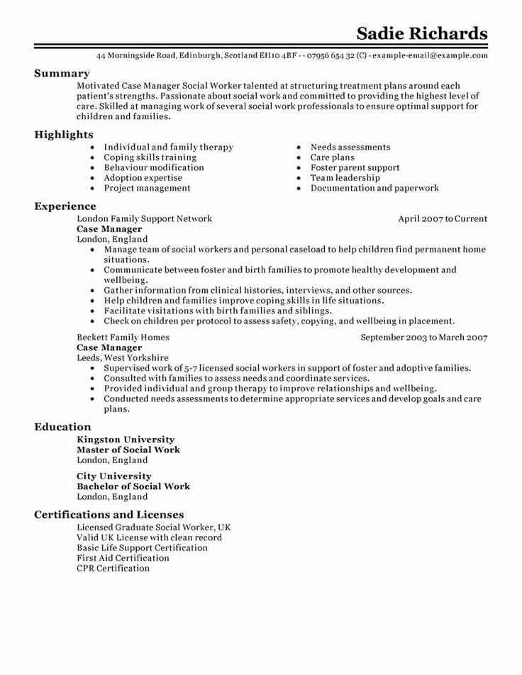 27 Case Manager Job Description Resume in 2020 Case
