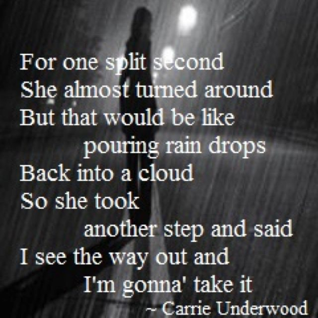 Carrie Underwood I see the way out