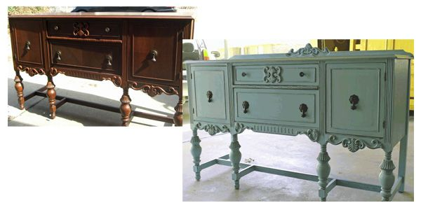 painted Buffets And Sideboards   Painted Furniture   Before and After Photos