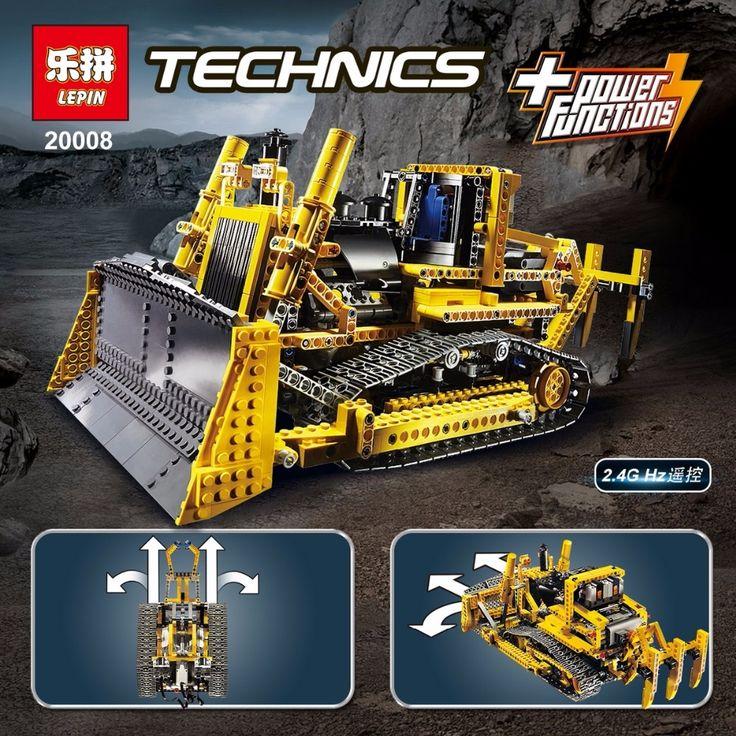 127.29$  Buy now - http://ali2se.worldwells.pw/go.php?t=32774527066 - NEW LEPIN 20008 technic series 1384pcs the bulldozer Model Building blocks Bricks kits Compatible legoes 8275 boy brithday gifts 127.29$