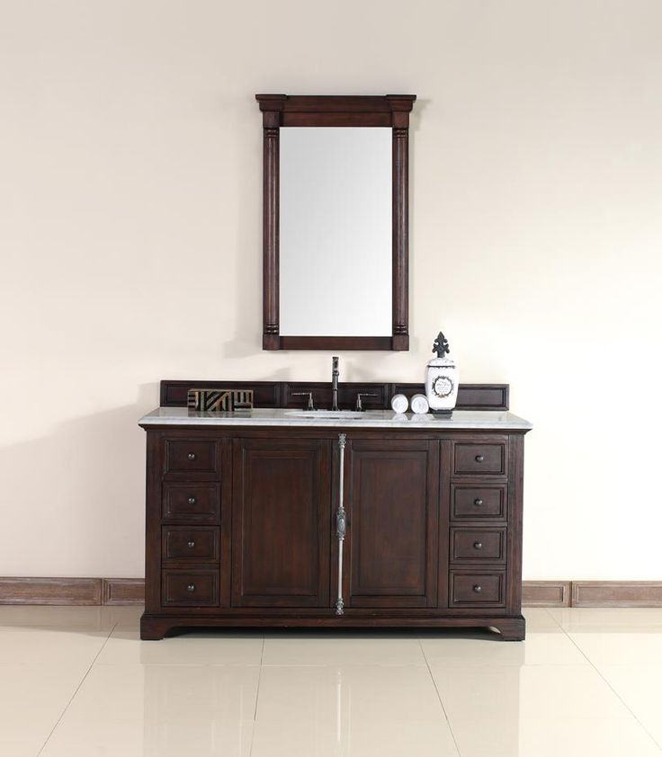 Gallery For Website Providence Single Sink Bathroom Vanity Cabinet Sable Finish Carrara White Marble Countertop