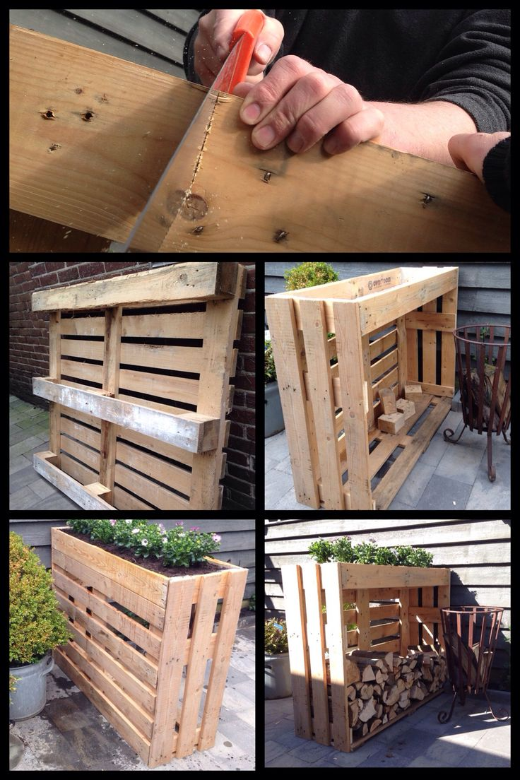 Wood storage.