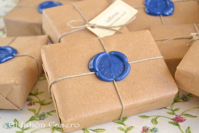 wax seal soap packaging by El Jabón Casero, via Flickr