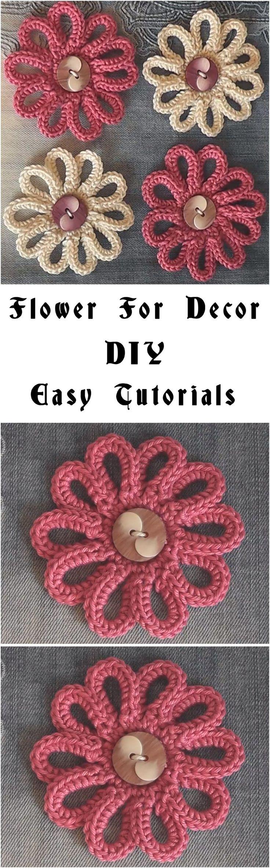 Flower For Decor – Easy Tutorial