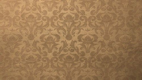 light brown leather texture with damask pattern hd