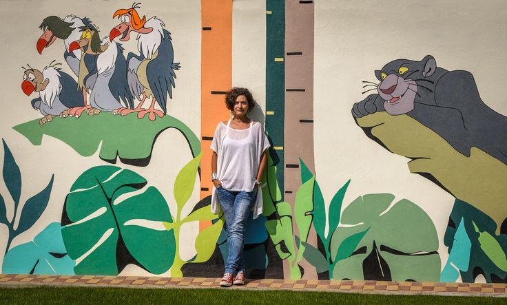 "Kids wall art Scene from ""The Jungle Book"" @Parcul Morii"