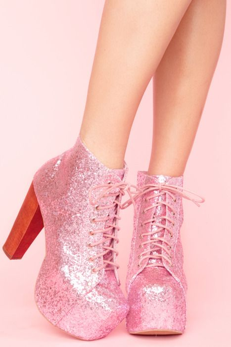 These shoes were made for walkin... and leaving glitter ALL over the place.  LOL