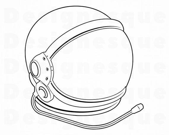 Astronaut Helmet Outline Svg Astronaut Helmet Svg Astronaut Etsy Astronaut Helmet Helmet Tattoo Helmet Drawing