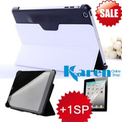 Apple iPad Mini Case Leather Smart Cover Super Slim With 2 Fold Stand+sp White