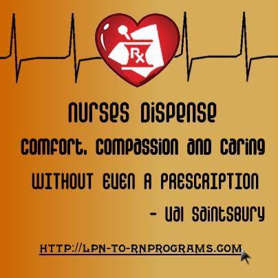 Comfort. Compassion. Caring. = Nursing Profession #nursing #quotes