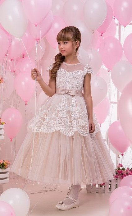 Hey, I found this really awesome Etsy listing at https://www.etsy.com/ie/listing/258815554/champagne-flower-girl-dress-first