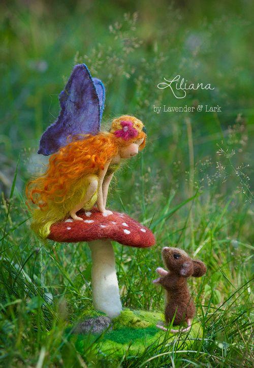 Liliana, OOAK fairy art doll by Lavender & Lark,