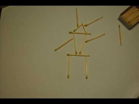 Icarus - stop motion matches animation; dektukai ikariniai