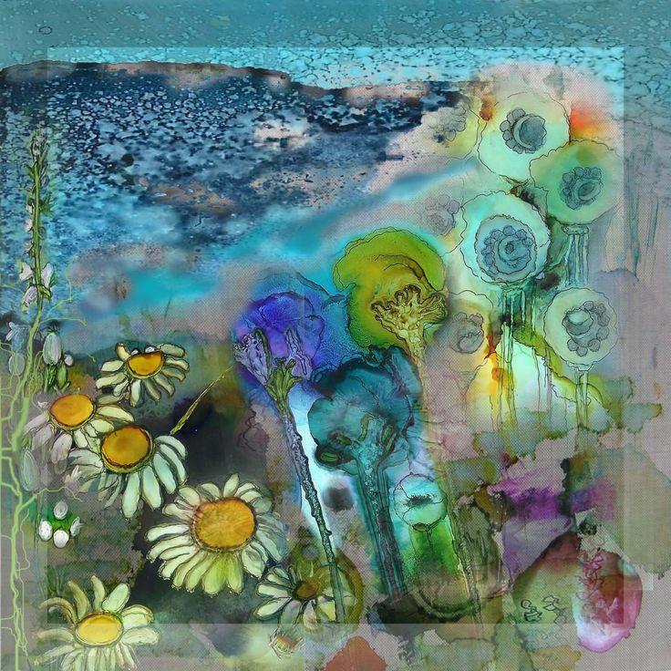 photoshop-collage van mijn zelfgemaakte afbeeldingen gemaakt met alc.inkt