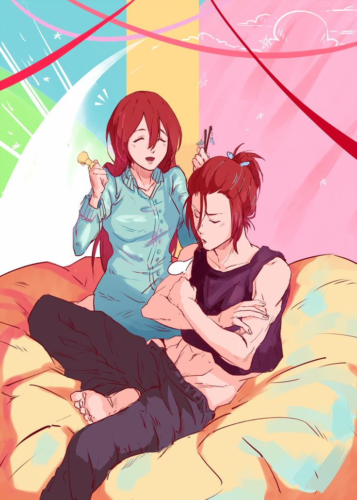That's so cute that Rin would let Gou do his hair. <3 <3 <3 I love their relationship.