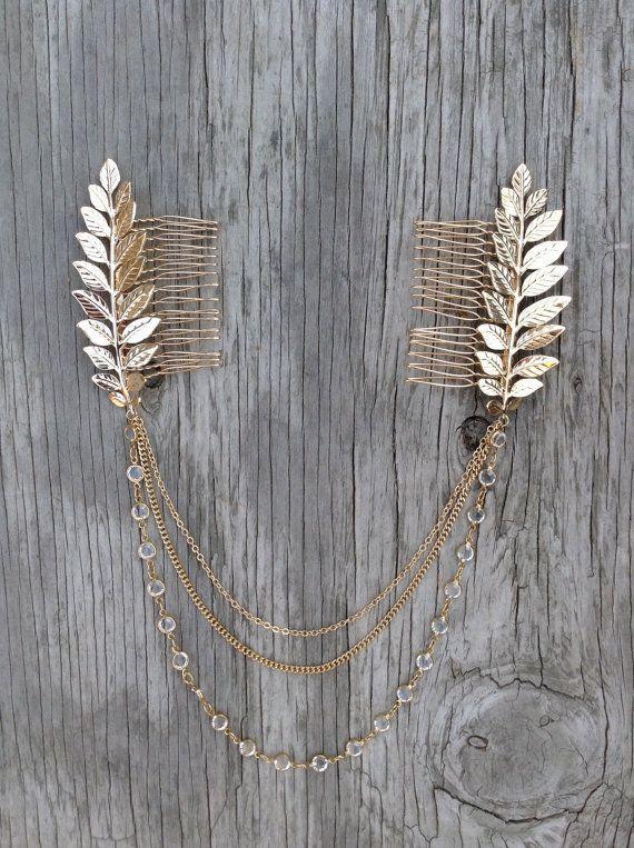 Haarkette Boho Head Crown Chain und lässt Haare von KARAandK … #blatter #k … – Selbstgemachter schmuck