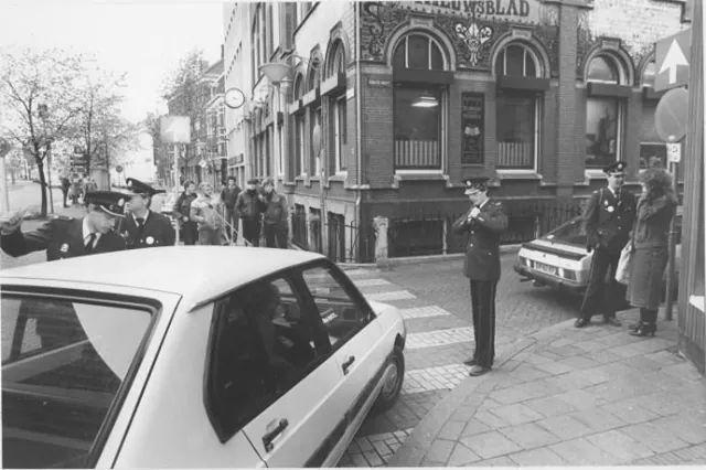 Gedempte Zuiderdiep Groningen Stiptheidsactie van de politie 1983