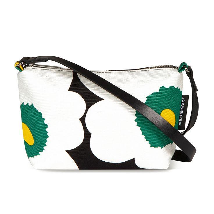 Marimekko Heli Unikko Shoulder Bag  Blk / Wht / Green
