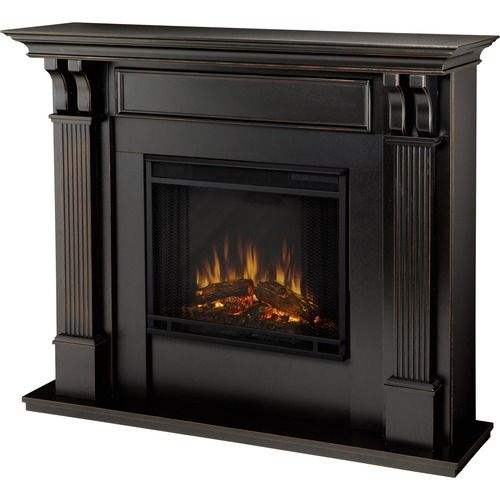Real Flame - Ashley Electric Fireplace - Indoor Usage - Heating Capacity 1.38 kW - Black