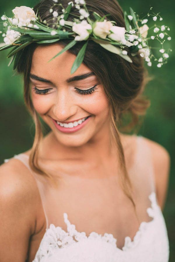 An illusion neckline and gorgeous flower crown | Photography by The Image Is Found