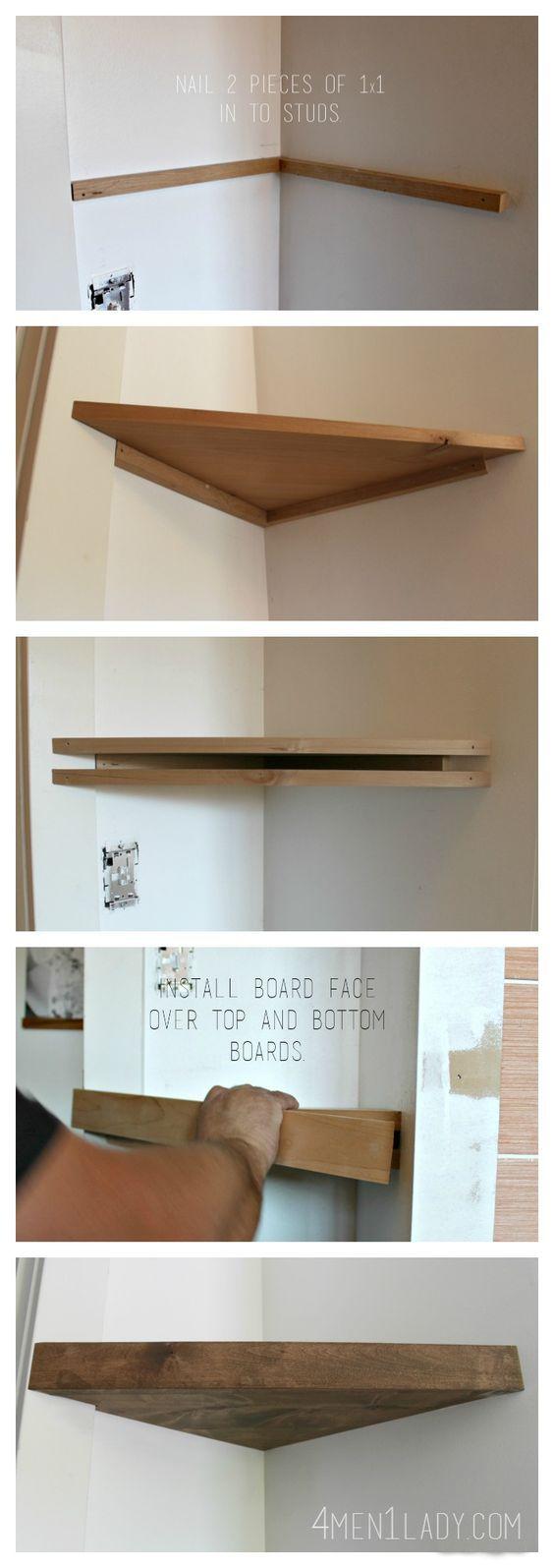 Déco - Créer des étagères d'angle