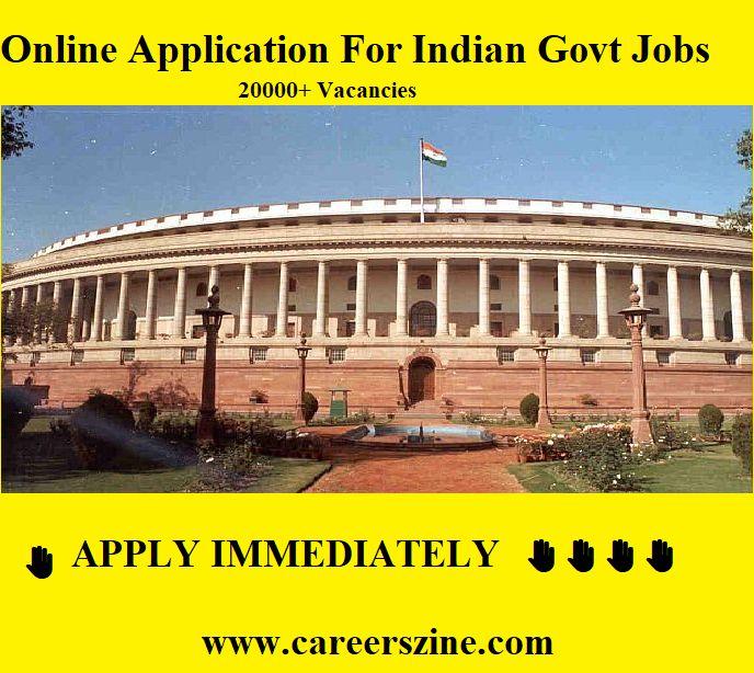 Apply Online #Indian #Govt #Jobs #CareersZine details✍️✍️ http://www.careerszine.com/online-job-applications/