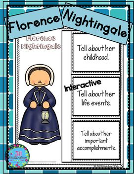 Have your children research Florence Nightingale. Great for Women's History Month!This product includes two ways for your children to share what they have learned about Florence Nightingale in writing! Florence Nightingale Interactive Writing Printable (color and black and white)Florence Nightingale Fast Facts (color and black and white)