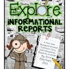 This pack includes everything you need to successfully teach a research/informational report unit in your classroom. It is aligned with Common Core...