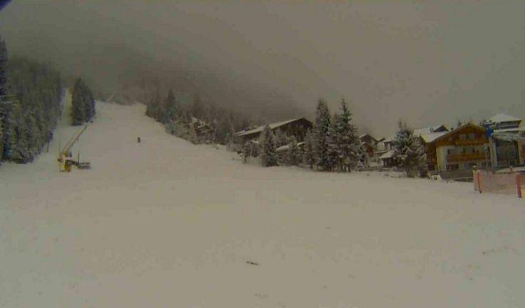 Live: het sneeuwt in de Alpen!