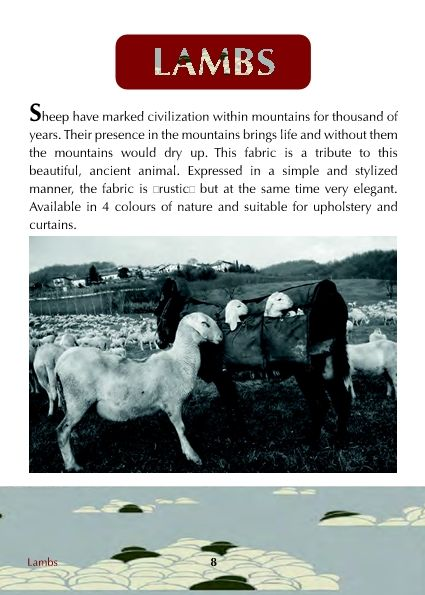 Lambs fabrics, Colony Roma
