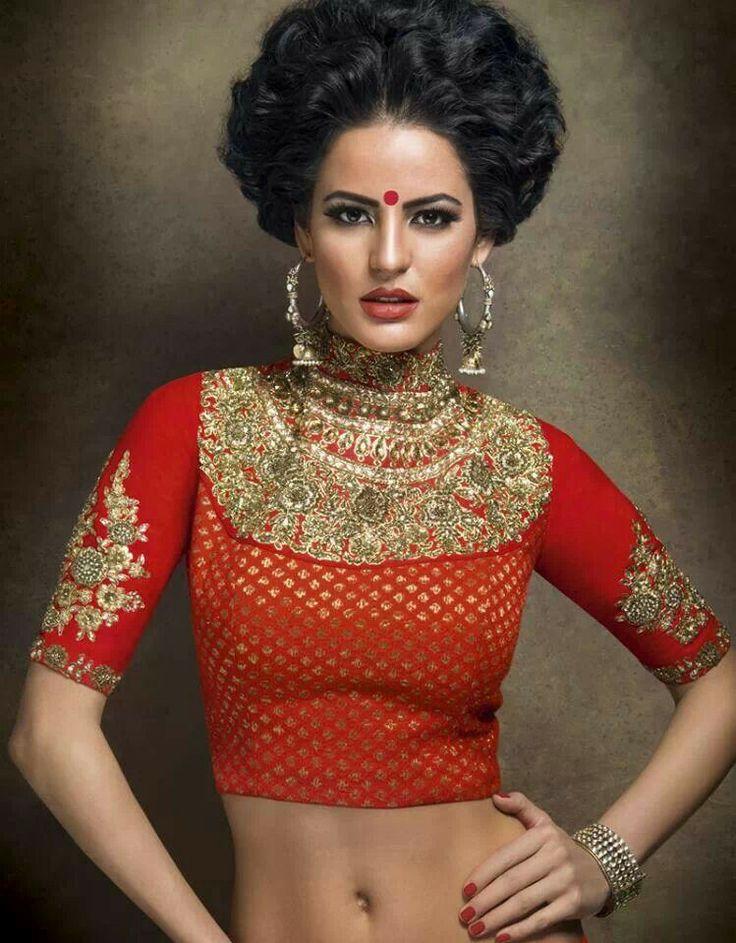 Sabyasachi saree blouse design