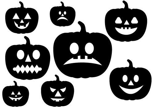 Halloween Pumpkins Vector GraphicsSilhouette Clip Art
