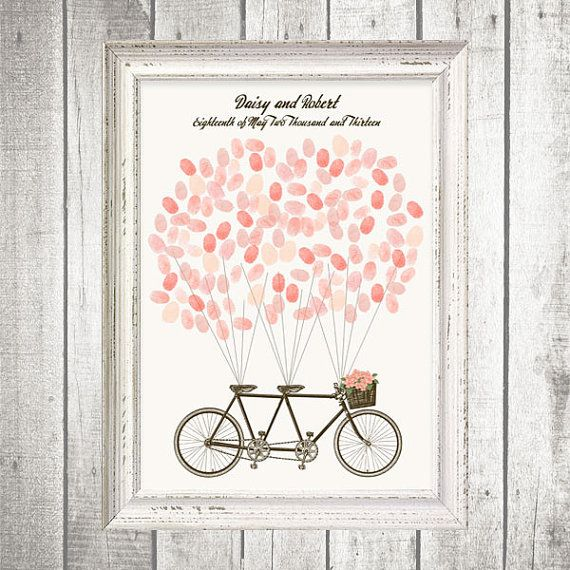 tandem bicycle fingerprint guest book  printable file: Wedding Guest Book, Tandem Bike, Wedding Ideas, Weddings, Tandem Bicycle, Bicycle Fingerprint, Fingerprints, Fingerprint Guest Books, Guestbook