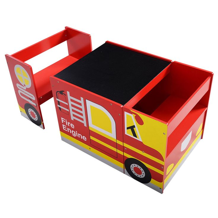 Kids Multifunctional Wooden Bus-like Table and Chairs Set Drawing Board - Baby & Toddler Furniture - Furniture