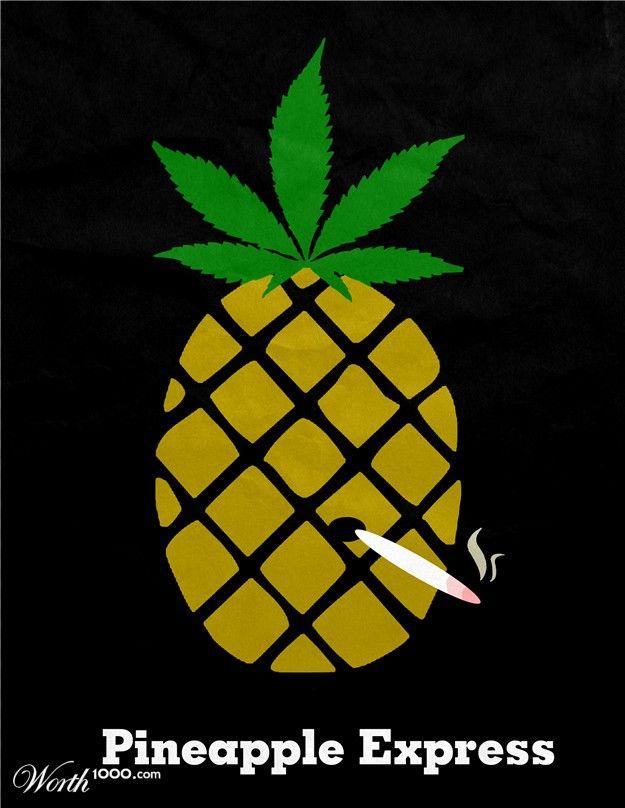Minimalist Movie Poster-Pineapple Express